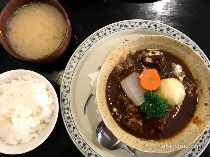 佐賀・洋食屋かごしま 牛タンシチュー定食