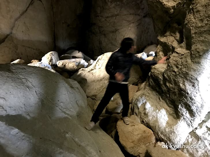 キリシタン洞窟(キリシタンワンド)の中の様子