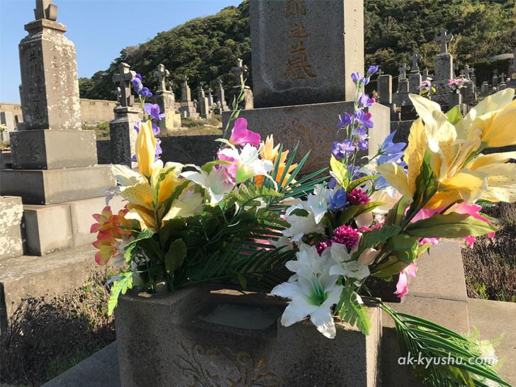 上五島 頭ヶ島天主堂そばの墓地
