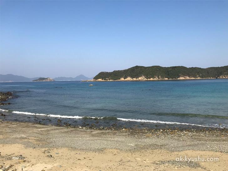 上五島 頭ヶ島天主堂そばの海