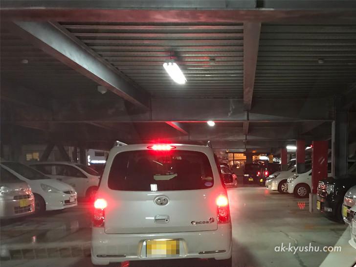 ベアスタの駐車場の様子