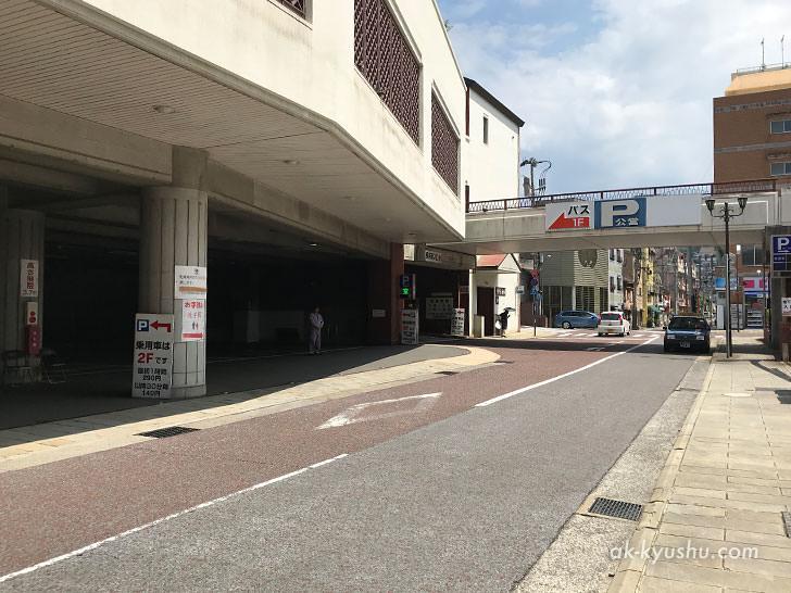 写真:四海楼 近くの公営駐車場